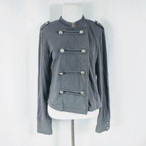Rue 21 Gray Stretch Knit Pea Coat Size XL